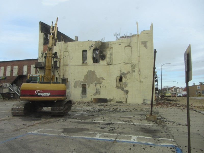 Demolition of old building