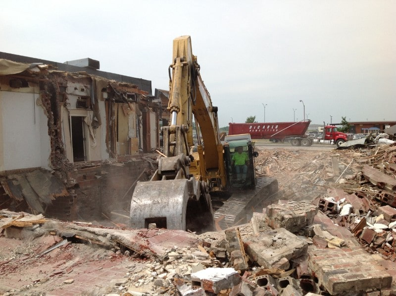 Large demolition site